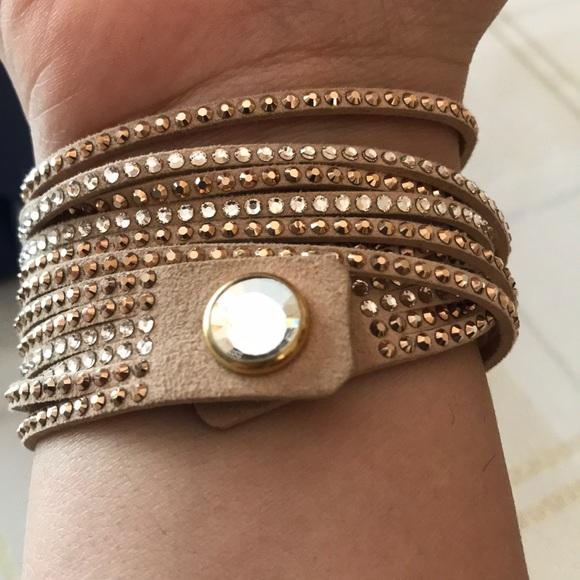 5792cef0f Swarovski Jewelry | Slake Crystal Wrap Bracelet | Poshmark